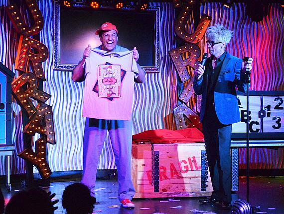 """Murray SawChuck and Douglas """"Lefty"""" Leferovich perform in MURRAY 'Celebrity Magician' at Planet Hollywood Resort & Casino in Las Vegas"""