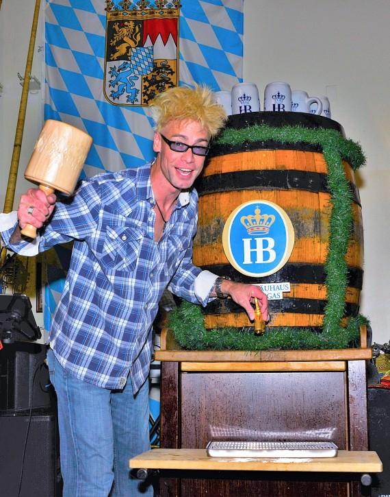 Planet Hollywood Resort & Casino headliner Murray SawChuck taps a keg