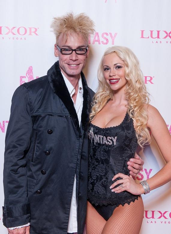 Murray Sawchuck and wife Chloe Louise Crawford on her opening night