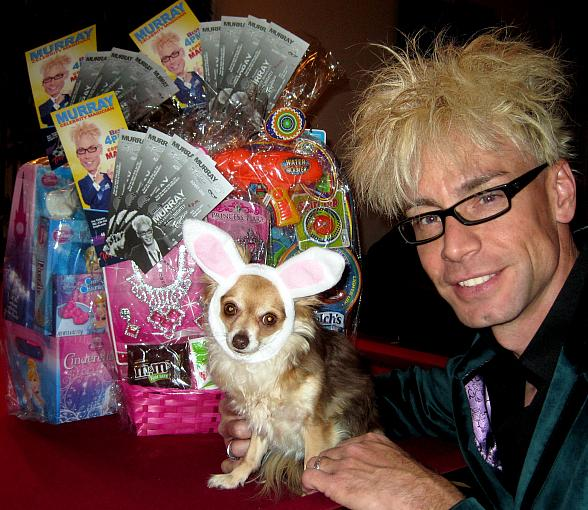Get a FREE TICKET to MURRAY 'Celebrity Magician' on March 31 with a Donation of an Easter Basket to E Bunny