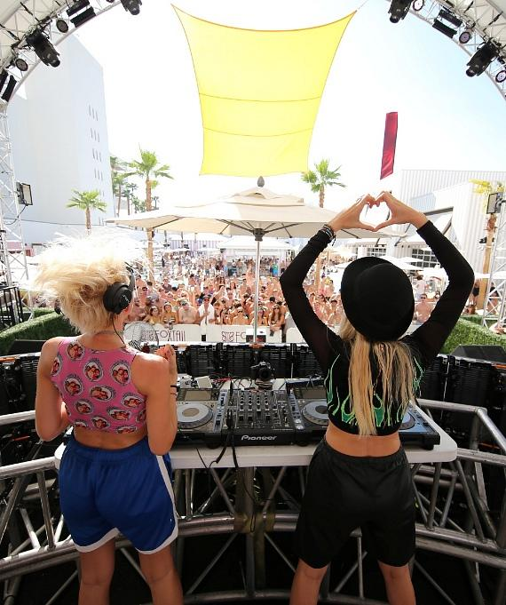 NERVO performs to a packed crowd at Foxtail Pool, Aug. 22