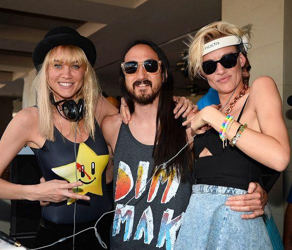 Tara Reid Parties at WET REPUBLIC as NERVO and Steve Aoki Spin for the Masses