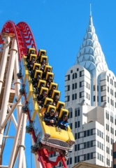 The Big Apple Roller Coaster at New York-New York Hotel & Casino Pushes High-Tech Thrills to Cosmic Levels with New Virtual Reality Experience