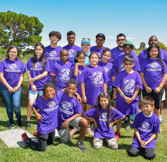 Natalie Gulbis with the kids from Boys & Girls Clubs of Southern Nevada