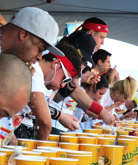 Nathan's Famous Hot Dog Eating Contest at New York-New York Hotel & Casino