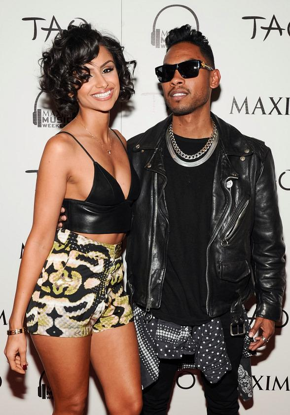 Nazanin Mandi and Miguel arrive at TAO