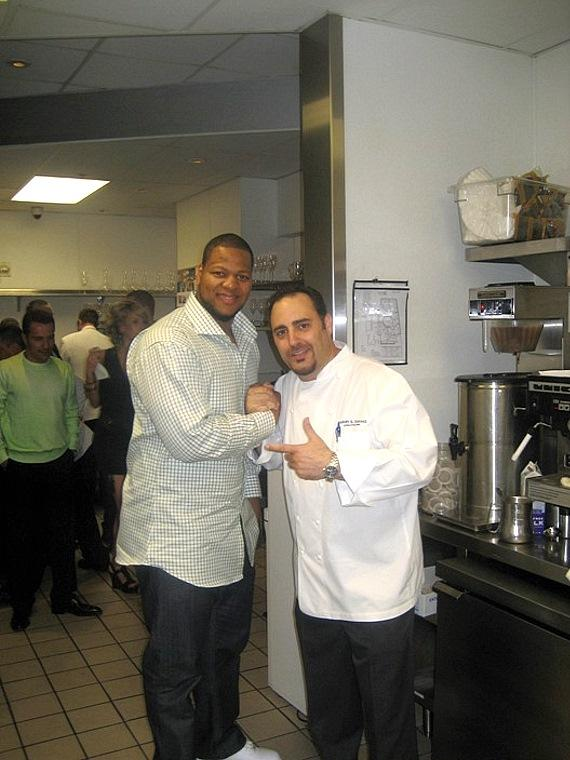 Ndamukong Suh and Executive Chef Barry S. Dakake