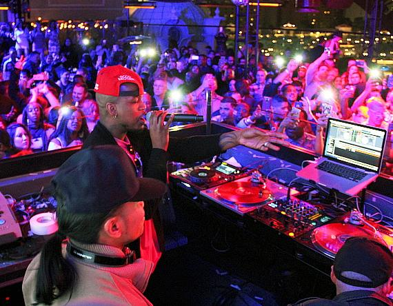 Ne-Yo in the DJ Booth at Chateau Nightclub & Rooftop