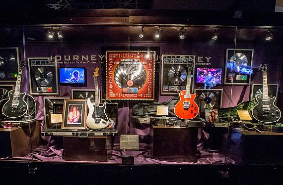 Neal Schon Memorabilia Case at Hard Rock Hotel Las Vegas