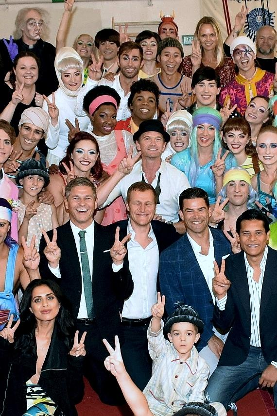 Neil Patrick Harris and a Group of Friends Attend The Beatles LOVE By Cirque du Soleil