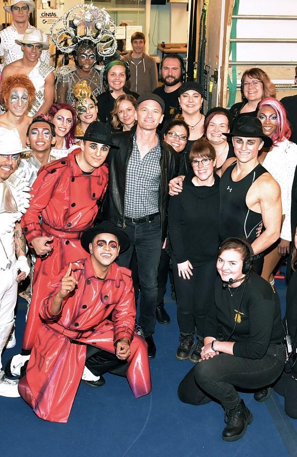 "Colin Farrell and Neil Patrick Harris at ""Michael Jackson ONE"" by Cirque du Soleil"