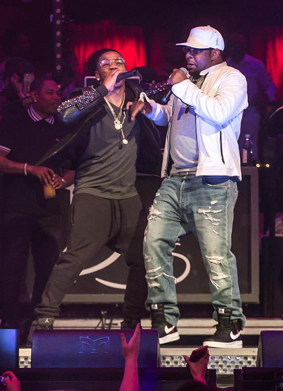 Nelly and Bobby Brown at Drais Nightclub Las Vegas