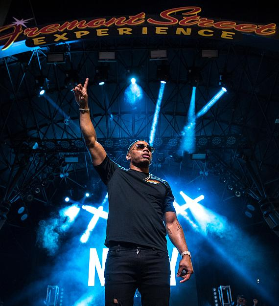 Nelly Delivers Electrifying Performance During Downtown Rocks on Fremont Street Experience