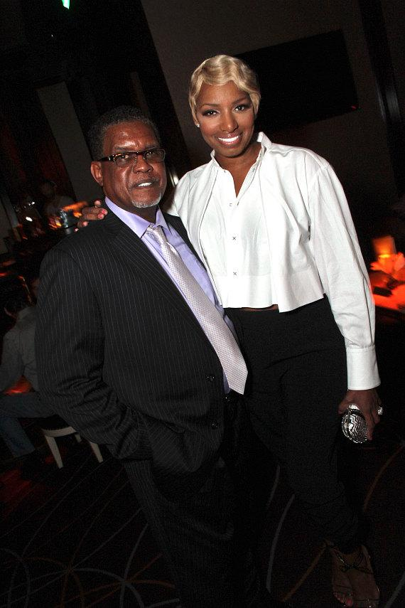 """""""Real Housewives of Atlanta"""" star NeNe Leakes with husband Gregg at Lily Bar & Lounge at Bellagio Las Vegas"""