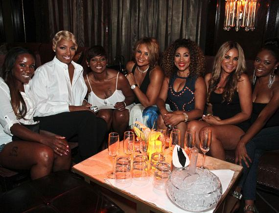 """Real Housewives of Atlanta"" star NeNe Leakes with friends at Lily Bar & Lounge at Bellagio Las Vegas"