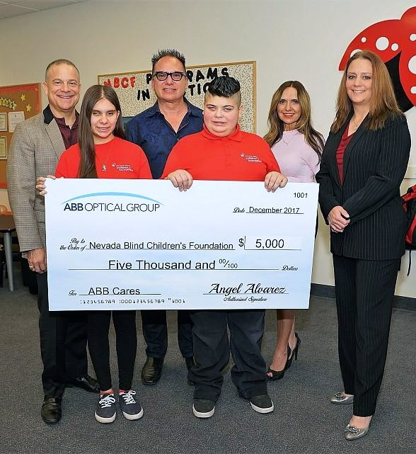 Nevada Blind Children's Foundation Receives $5,000 to Help Support Visually Impaired Children