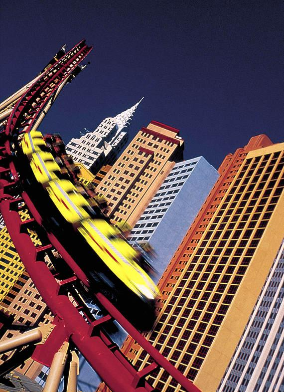 The Big Apple Coaster at New York-New York Hotel & Casino