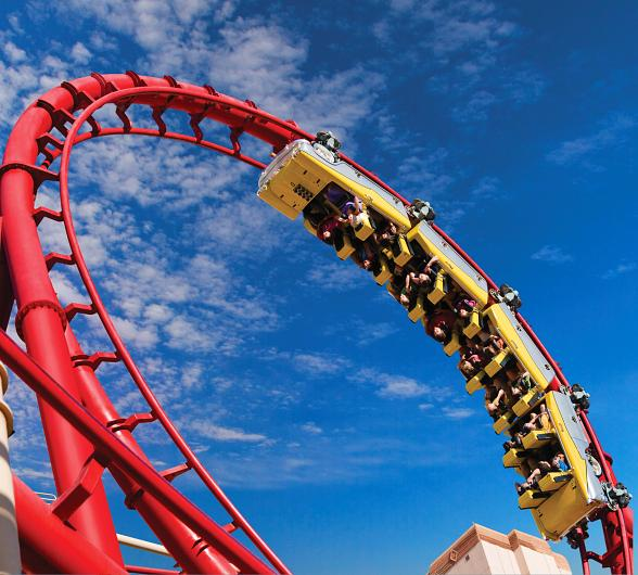 Straight A's Earn 2-for-1 Passes to Ride the Big Apple Coaster at New York-New York Hotel & Casino