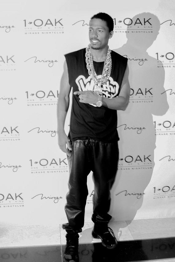 Nick Cannon arrives at 1 OAK at The Mirage on Tuesday, March 25