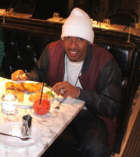 Nick Cannon at Sugar Factory American Brasserie