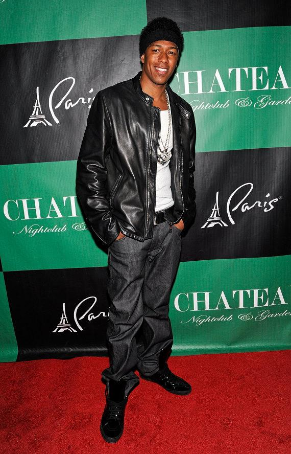Nick Cannon on the red carpet at Chateau Nightclub & Gardens