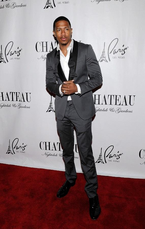 Nick Cannon walks the red carpet at Chateau Nightclub & Gardens at Paris Las Vegas