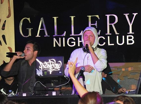 Nick Carter and Howie Dorough Performing at Gallery
