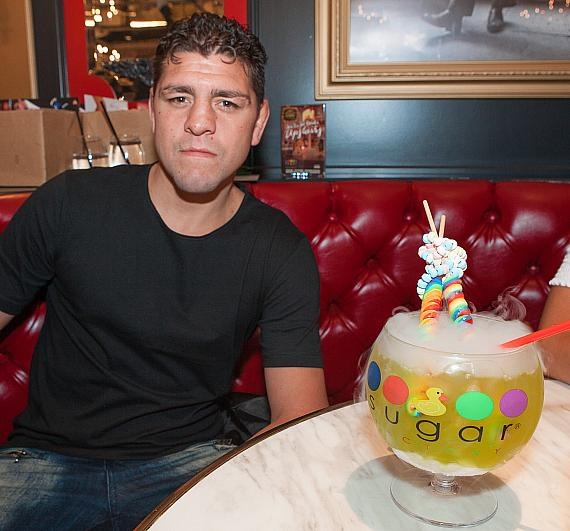 Nick Diaz with Lollipop Passion Goblet