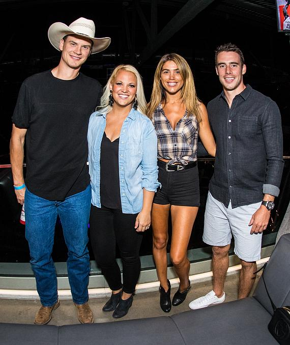 Nick Holden, Angela Holden, Melissa Ponte and Reilly Smith at Hyde Lounge at T-Mobile Arena