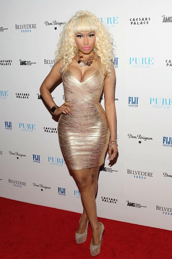 Nicki Minaj on red carpet at PURE Nightclub