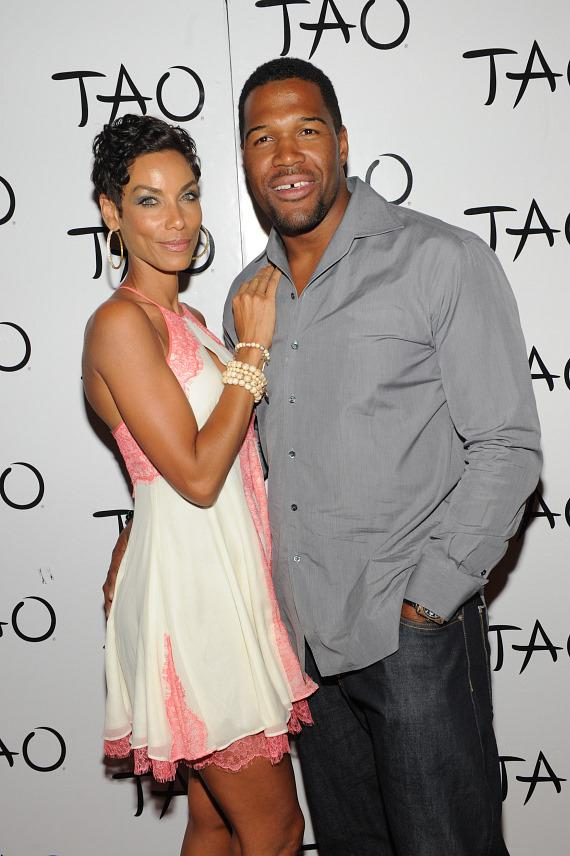Nicole Murphy and Michael Strahan at TAO