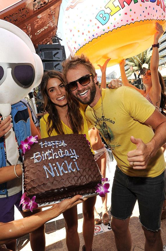 Nikki Reed and Paul McDonald at Marquee Dayclub