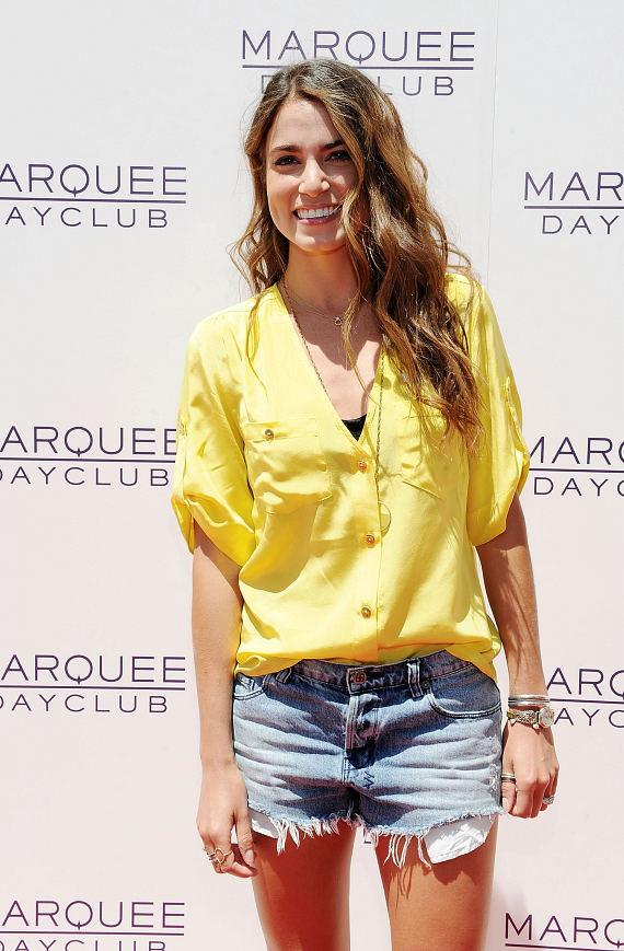 Nikki Reed on red carpet at Marquee Dayclub