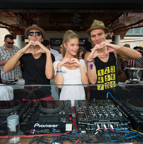 Nina Adgal and EC Twins at Marquee Dayclub