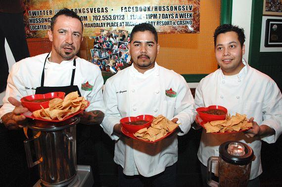Noe Alcala, Tino Guzman and Michael Vargas at Hussong's Cantina