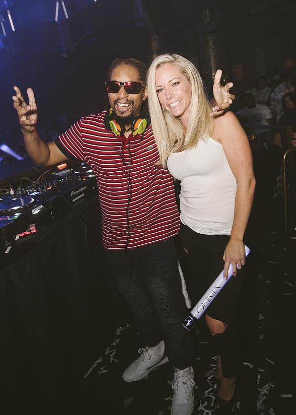 Kendra Wilkinson-Baskett Spotted at OMNIA Nightclub