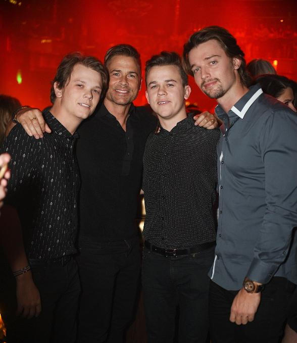 Actor Rob Lowe Celebrates his Son's 21st Birthday in Vegas at OMNIA Nightclub