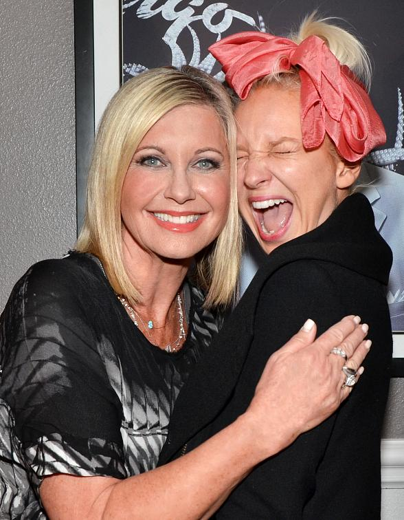 "Sia attends Olivia Newton-John's ""Summer Nights"" at Flamingo Las Vegas"