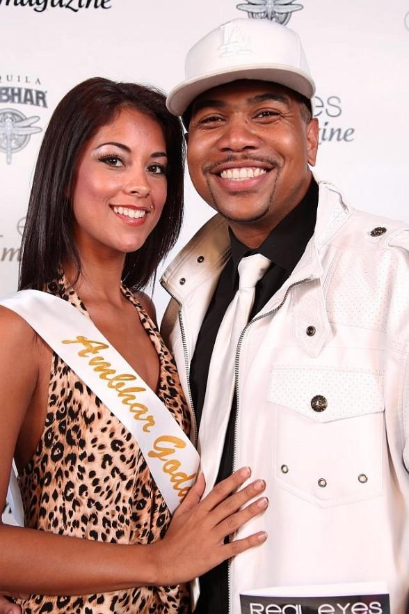 Omar Gooding with Ambhar Goddess model