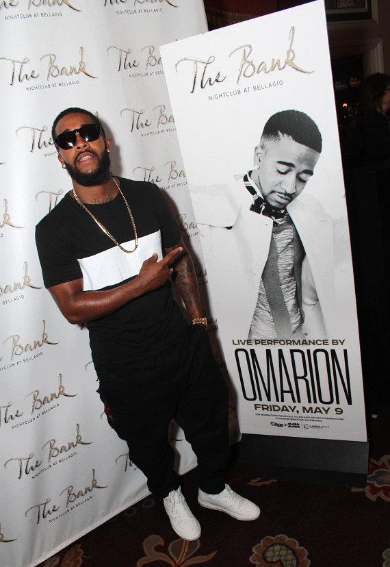 Omarion arrives at The Bank