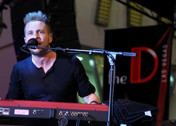 OneRepublic Lead Singer Ryan Tedder performs at the D Las Vegas