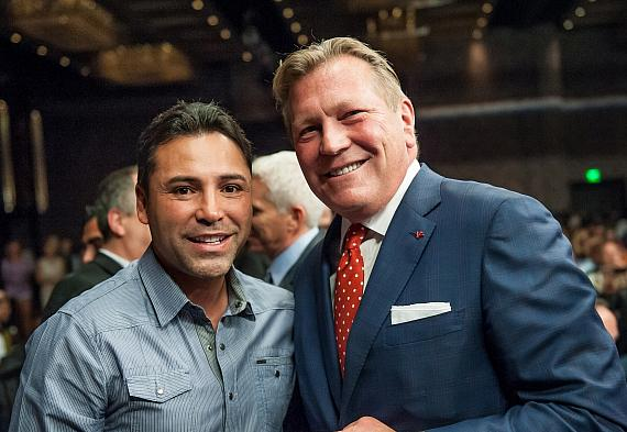Oscar De La Hoya and CEO John Unwin