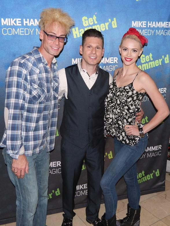 Magicians Murray SawChuck and Chloe Crawford visit The Mike Hammer Comedy Magic Show at Four Queens Hotel & Casino