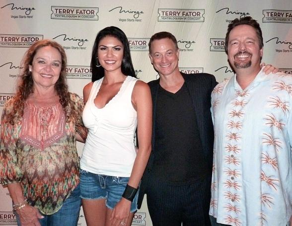 CSI:NY Actor Gary Sinise Attends Terry Fator: Ventriloquism in Concert at The Mirage