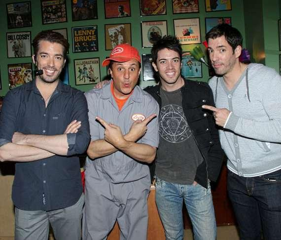 Lefty with brothers Jonathan, Drew and JD Scott