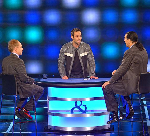 Rick Lax gets ready to do a card trick for Penn & Teller