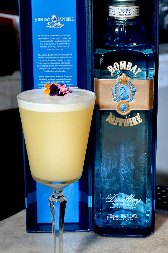 """""""The Lacy Fizz"""" made with Bombay Sapphire Gin"""