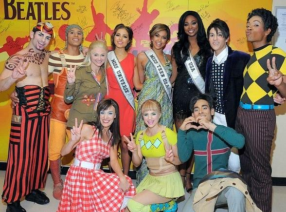 Beauty Queens Visit The Beatles LOVE by Cirque du Soleil