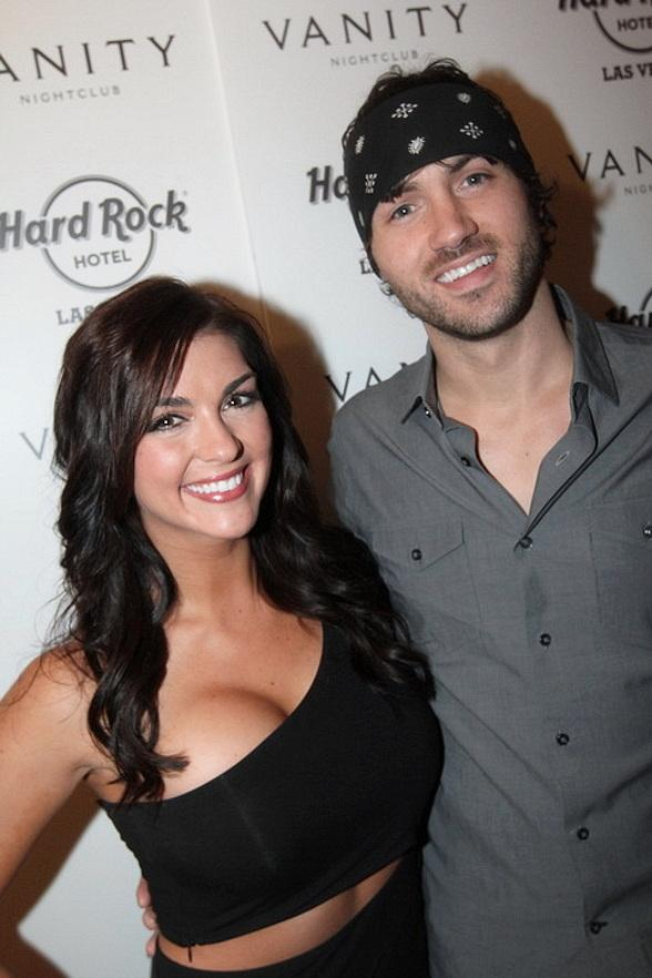 Paige Duke and Jeremiah James Korfe at Hard Rock Hotel & Casino in Las Vegas