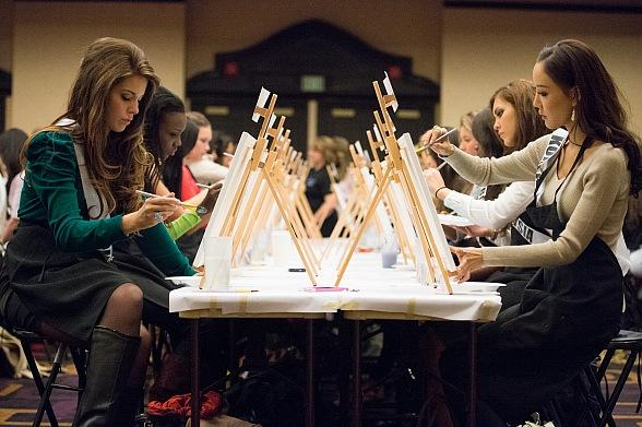 Worldwide Auction of Miss Universe Contestants' Artwork to Benefit Charity Providing Medical Treatment to Kids